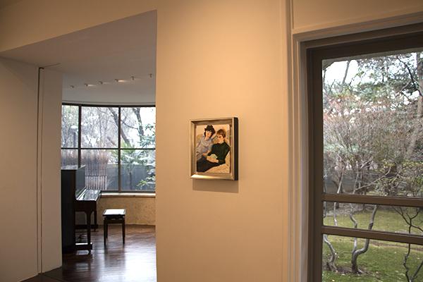 """Ken and Nick (ken Okiishi and Nick Mauss)"" 板に油彩 27.9 x 22.9cm 2005"