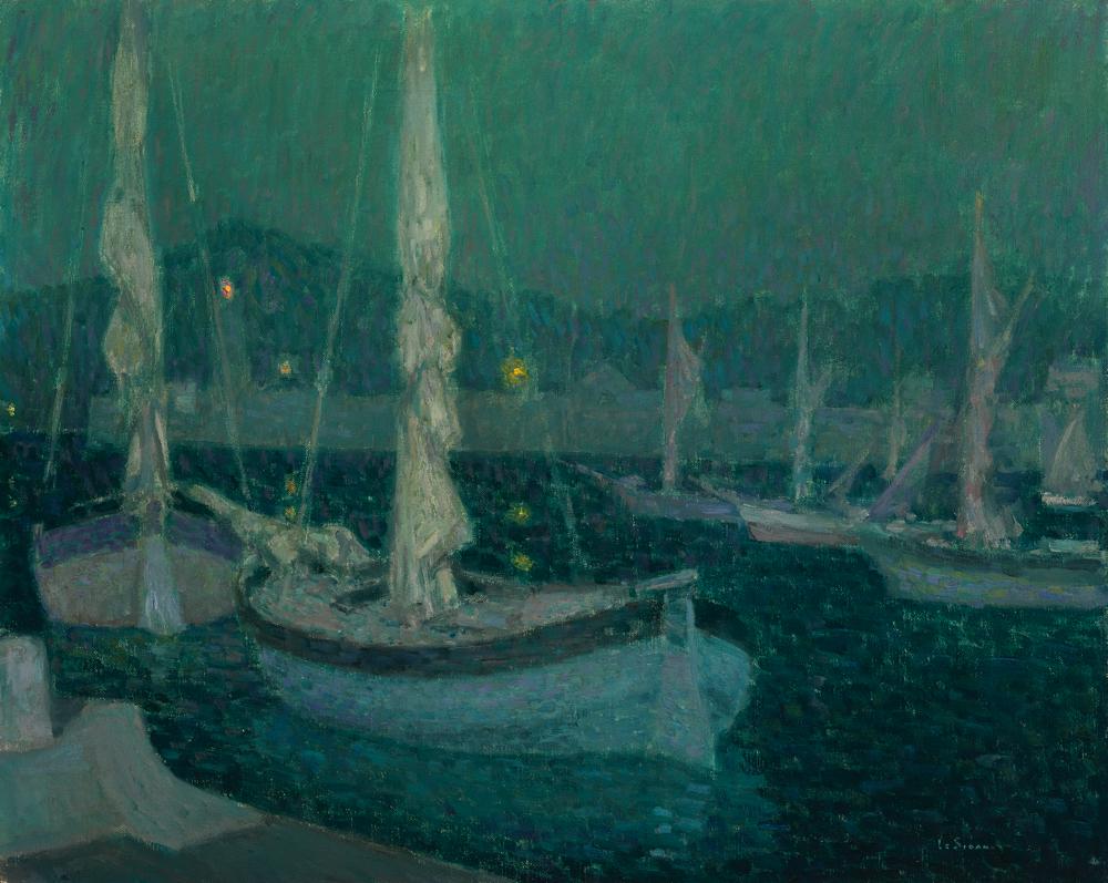 アンリ・ル・シダネル《月明かりの入り江》 1928年、油彩・カンヴァス (C) CSG CIC Glasgow Museums Collection