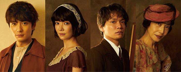 (左から)岡田将生、倉科カナ、竪山隼太、麻実れい