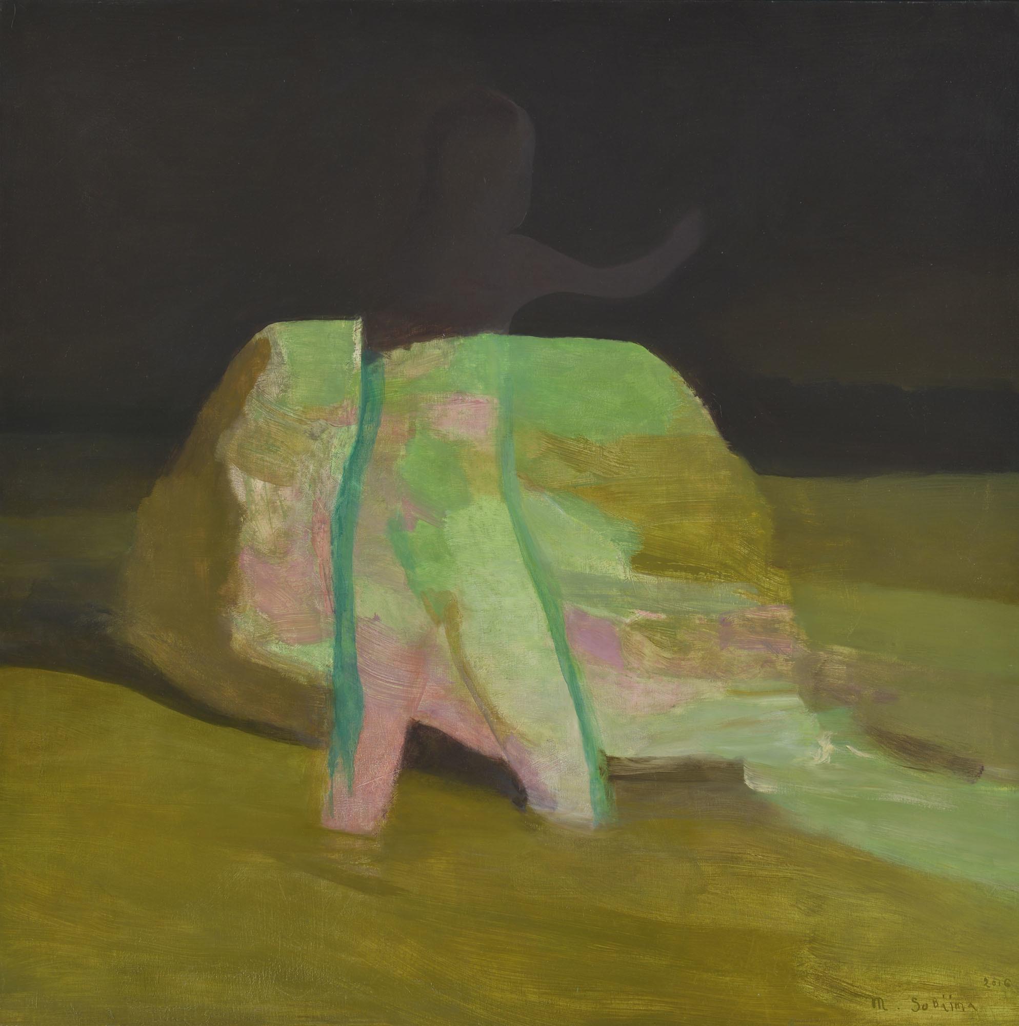 傍島 幹司(そばじま みきじ) 《夏の夜》2016 年 油彩・キャンバス 164×164 ㎝ 1960 年生まれ (審査員:坂元暁美)