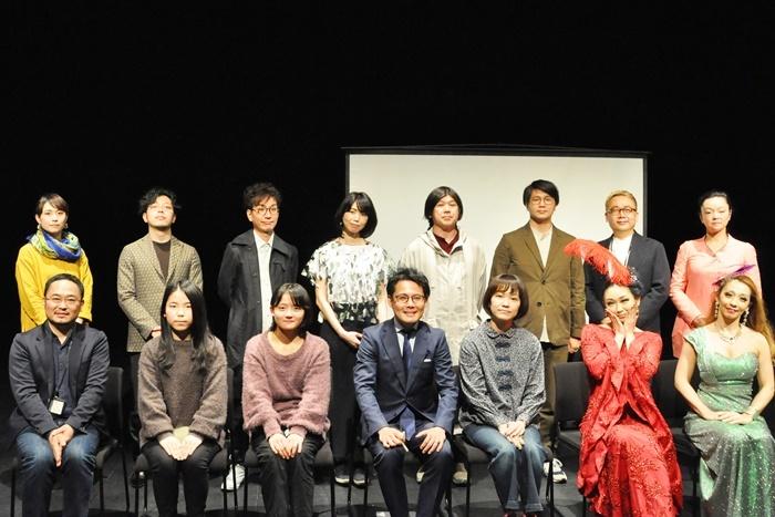 「THEATRE E9 KYOTO」2021年度年間プログラム発表会見登壇者たち。 [撮影]吉永美和子(このページすべて)