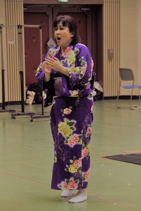 ジャポニズム・オペラだけあってリハーサルは着物姿 (C)Isojima