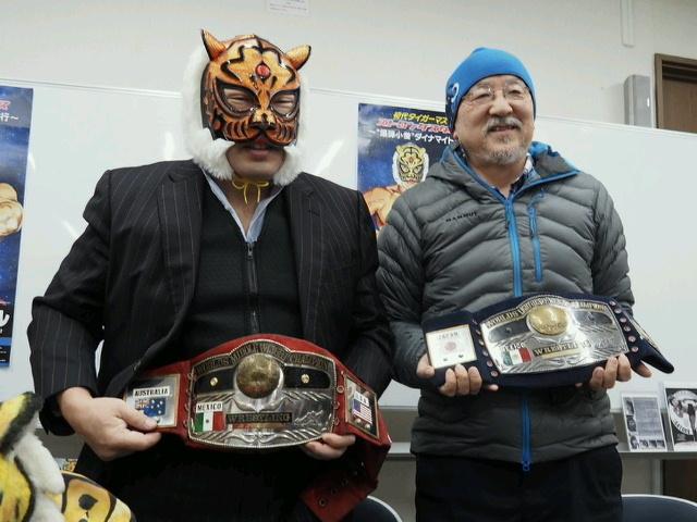 初代タイガーマスク・佐山サトルが、元『週刊ゴング』編集長のドクトル・ルチャこと清水勉氏を特別ゲストとして迎えて、トークショーとサイン会を行う