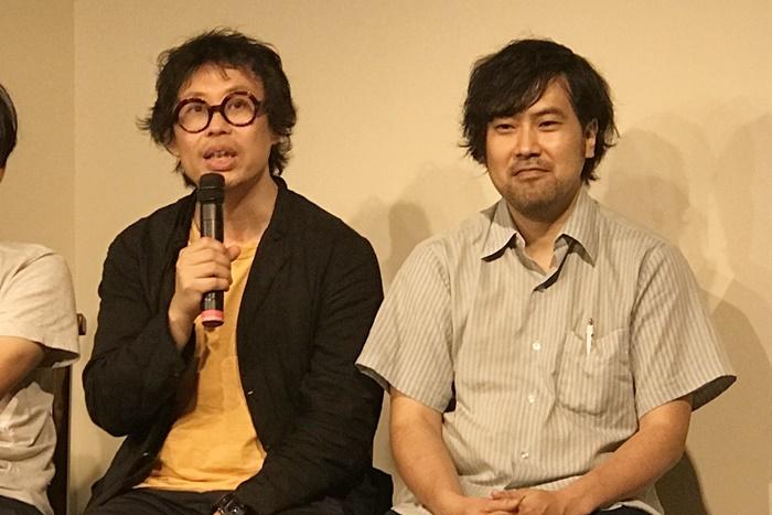 (左から)岡田利規、金氏徹平。 [撮影]吉永美和子