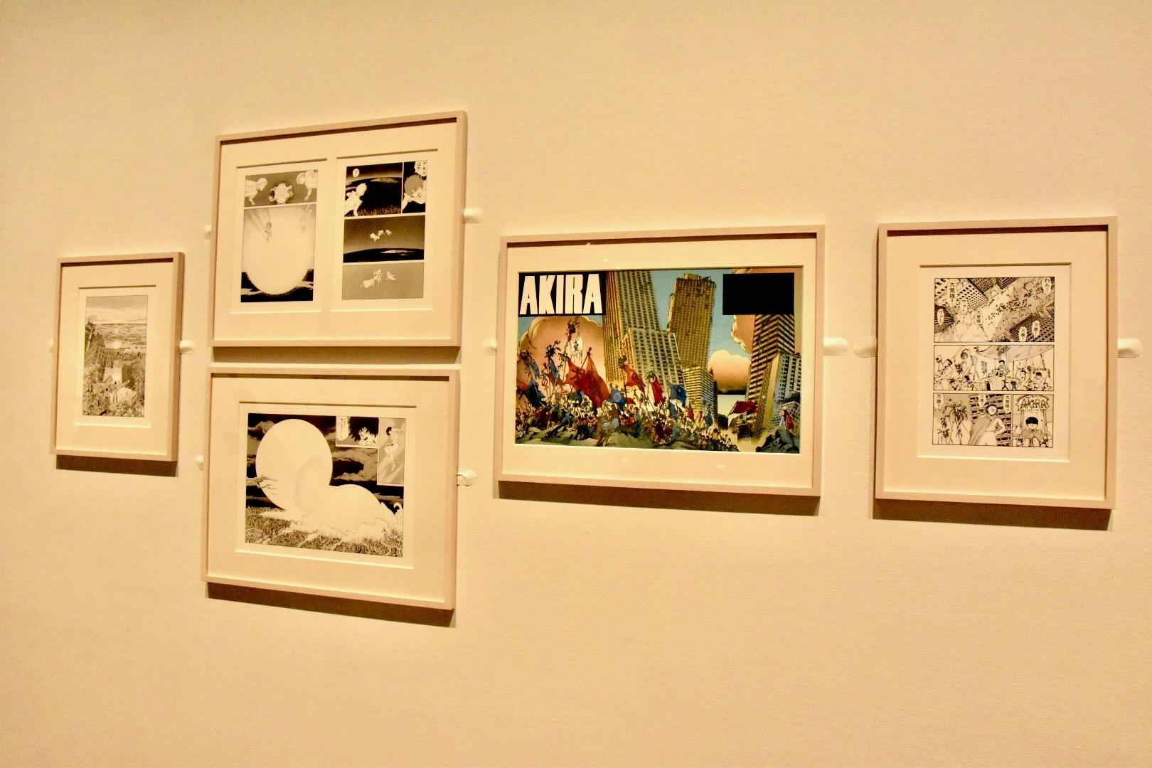 セクション1「破壊と復興の反復」より『AKIRA』(大友克洋)の展示風景