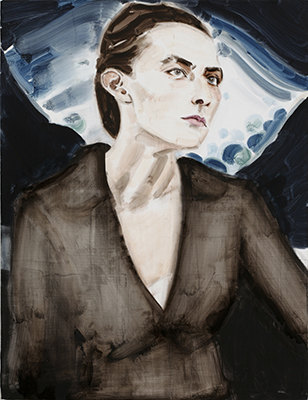 『Georgia O'Keeffe after Stieglitz 1918』 2006 カンヴァスに油彩 76.5×58.7cm (c)Elizabeth Peyton, courtesy Sadie Coles HQ, London, Gladstone Gallery, New York and Brussels, neugerriemschneider, Berlin