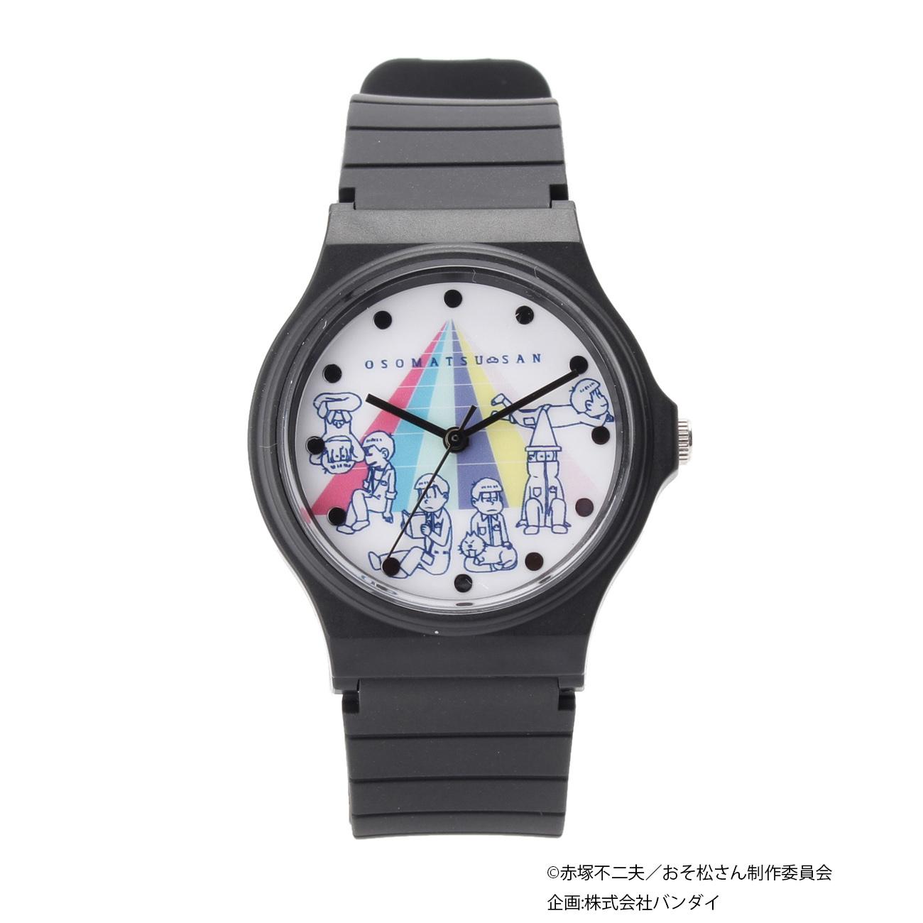 おそ松さん腕時計 ¥3,990/ブラック・ホワイト