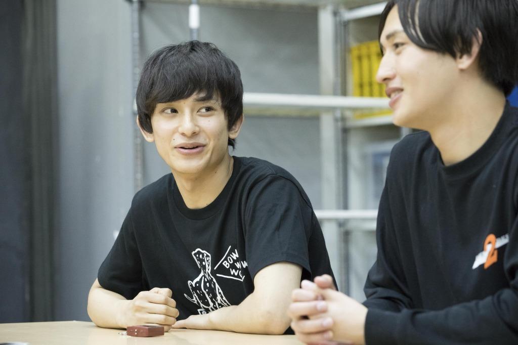 (左から)橋本祥平、松本岳