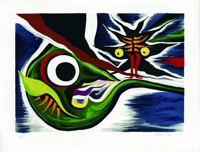岡本太郎 TARO OKAMOTO 「未来を見た」リトグラフ 限100 38.5×54.5cm 1977
