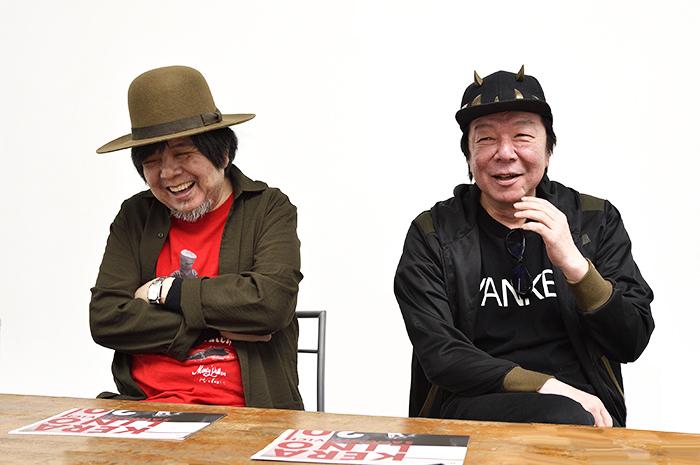 (左から)ケラリーノ・サンドロヴィッチ、古田新太