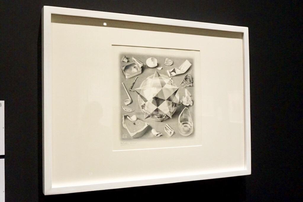 《対照(秩序と混沌)》1950年 リトグラフ 280×280mm