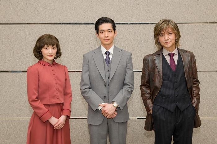(左から)生駒里奈、松下洸平、岡本健一