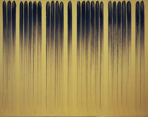 李禹煥「線より」1979年 カンヴァスに顔料 181x227 cm (c)Lee Ufan (前期出品)