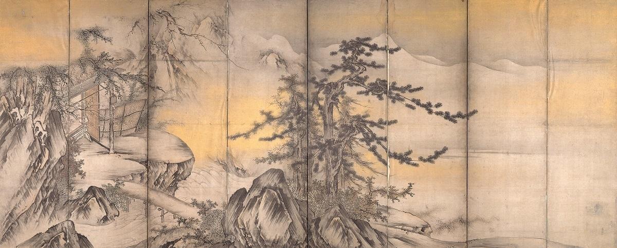 山水図屏風(左隻) 海北友松筆 桃山時代 16世紀 通期展示