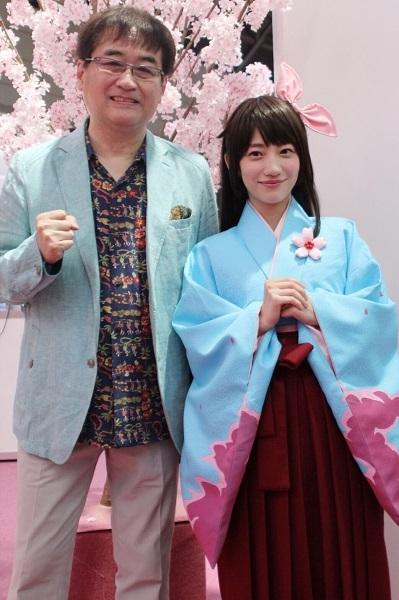 左から、田中公平氏、関根優那
