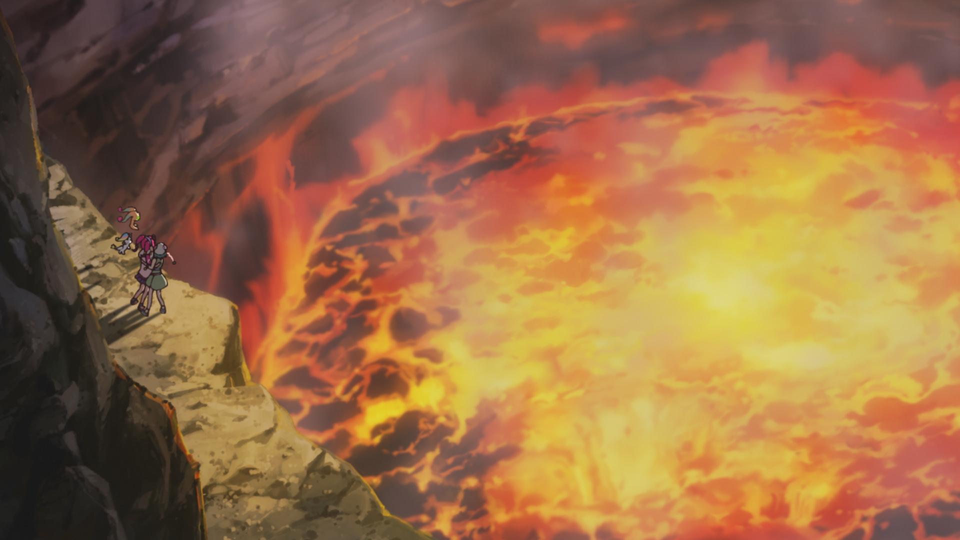 バヌアツ・ヤスール火山 (C)2019 映画スター☆トゥインクルプリキュア製作委員会