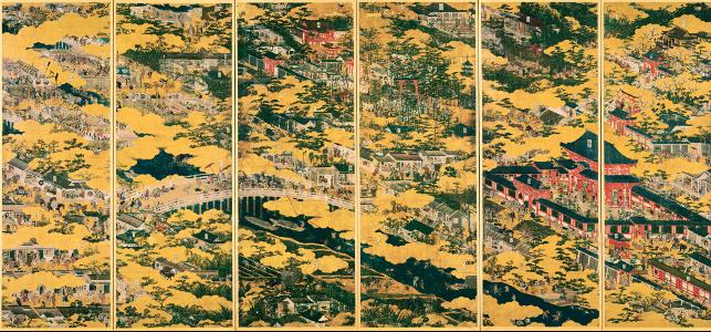 国宝 紙本金地著色洛中洛外図(舟木本) (※)右隻 東京国立博物館蔵