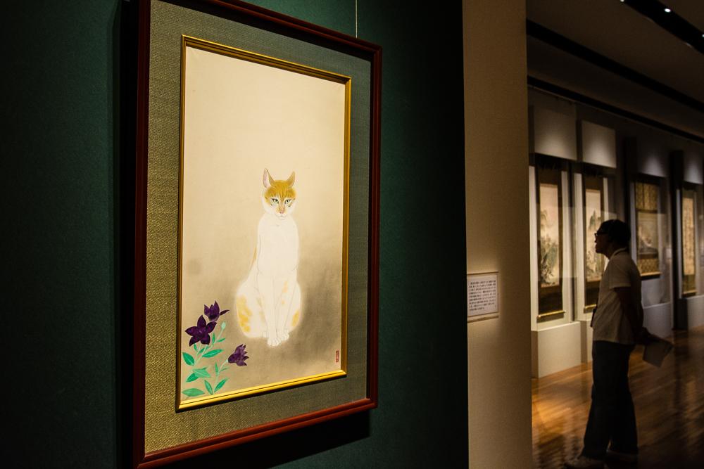 小林古径《猫》1946(昭和 21)年 山種美術館