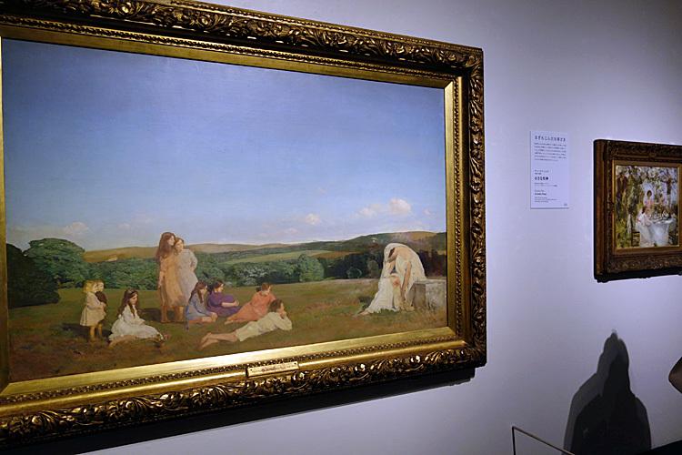 チャールズ・シムズ《クリオと子供たち》1913年
