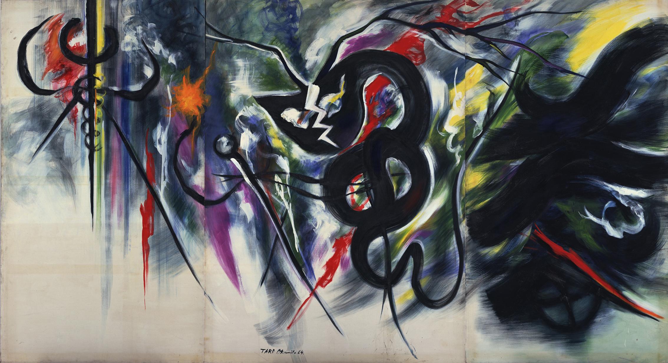 《愛撫》 1964年 川崎市岡本太郎美術館蔵
