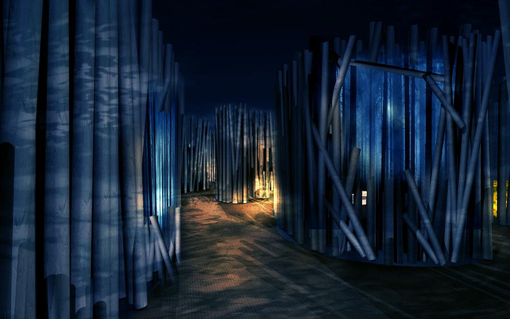 森林ゾーン(夜)