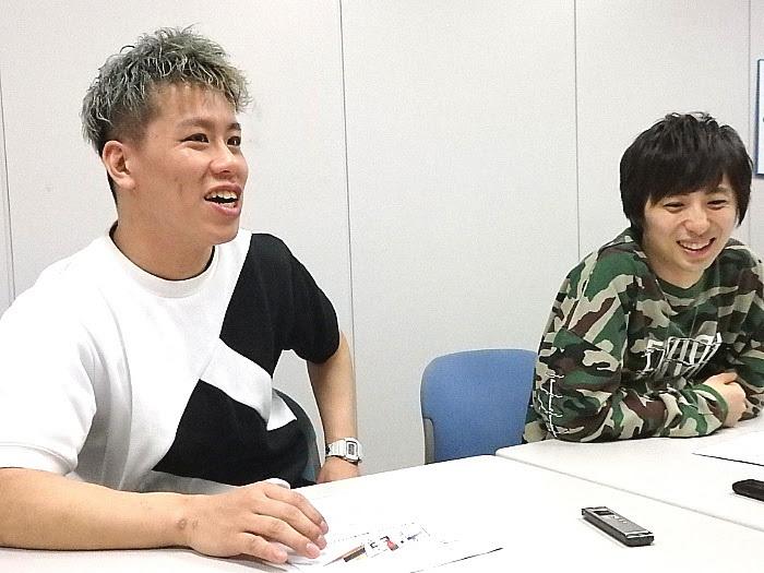 左から伊藤今人(梅棒)、千葉涼平(w-inds.)