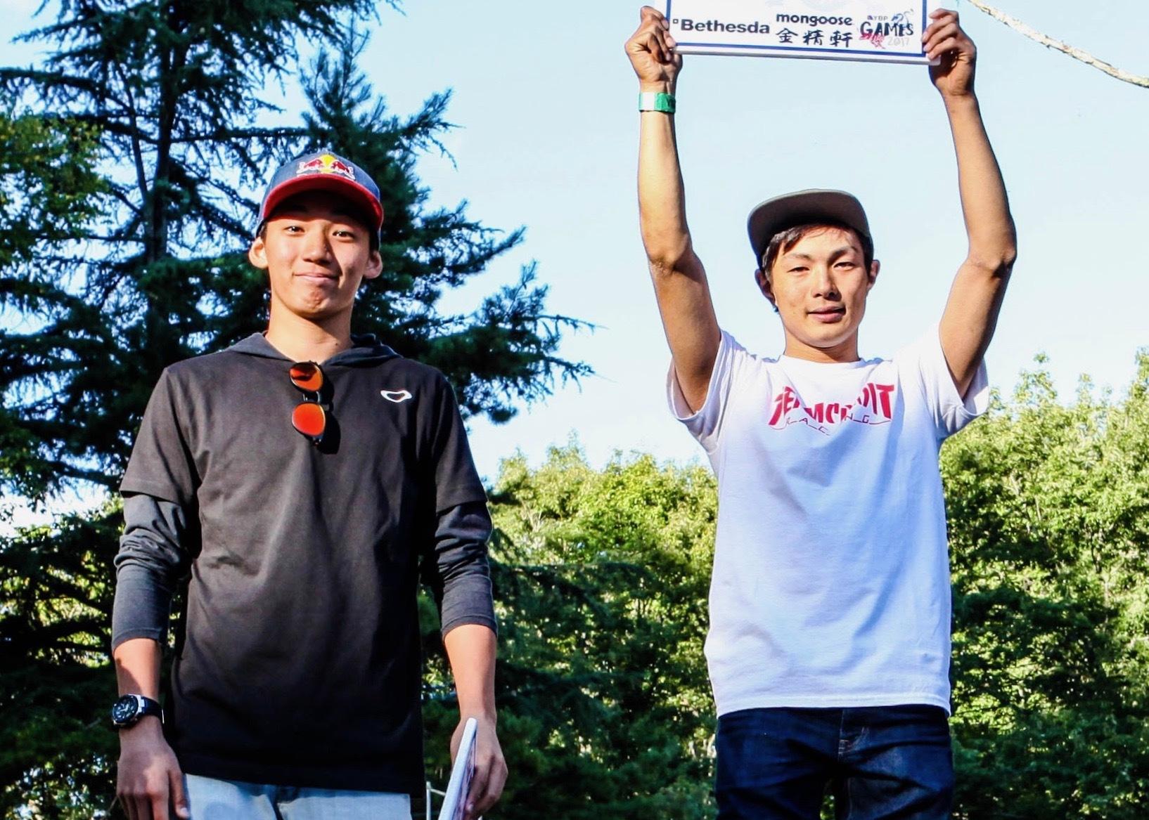 同世代でライバルの中村輪夢(左)と大霜優馬(右) photo by YBP PROJECT/Motoyoshi Yamanaka