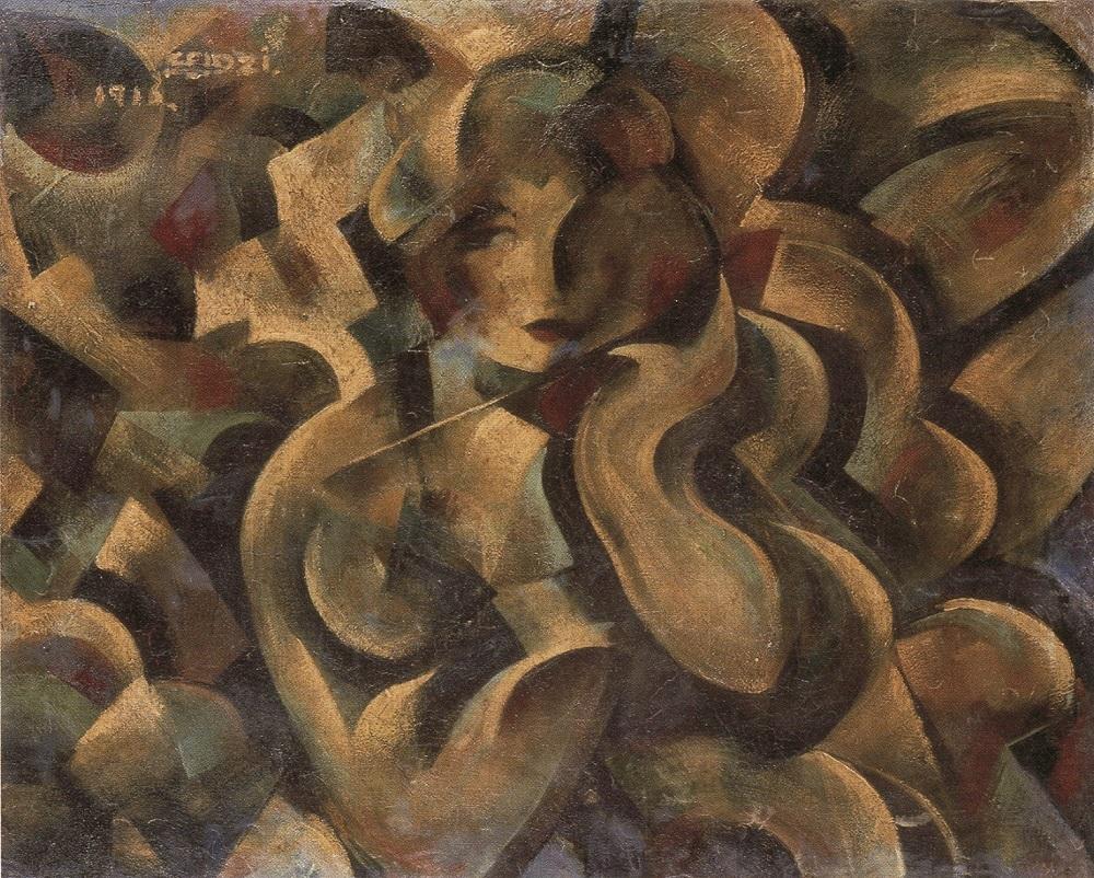 《パラソルさせる女》、1916年、油彩・キャンヴァス、66.1×81.2cm、一般財団法人 陽山美術館