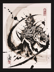 こうじょう雅之「武人画」×「ウルトラマンシリーズ」の版画作品が展示、西武渋谷店にて