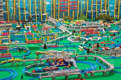 タカラトミーの鉄道玩具「プラレール」発売60周年特別企画展『両国 プラレール駅』が開催