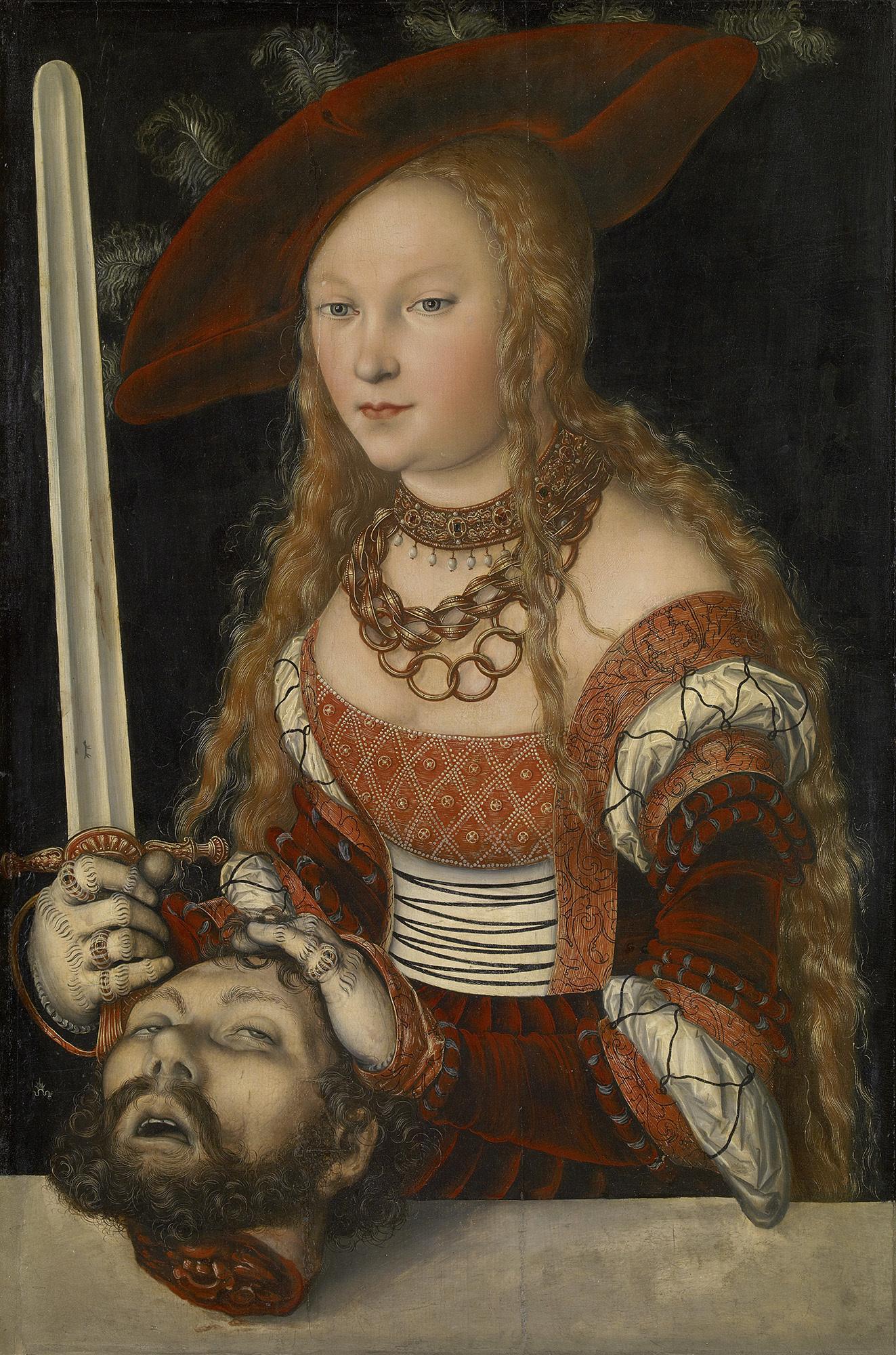 《ホロフェルネスの首を持つユディト》 ルカス・クラーナハ(父) 1530年頃 ウィーン美術史美術館 ©KHM Museumsverband