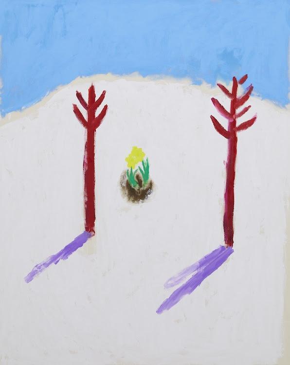 イサム・ノグチの手紙 23ページ目 a letter from ISAMU NOGUCHI p23 2019 acrylic on canvas 150.0 x 123.0 cm (C)Ellie Omiya