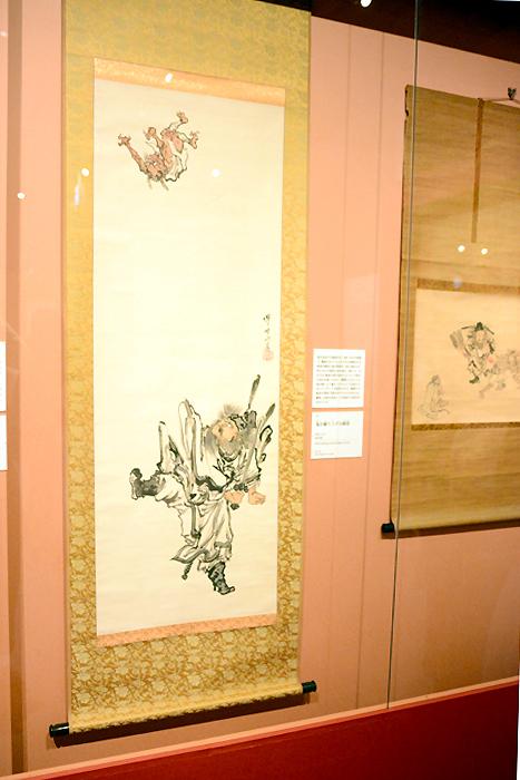 河鍋暁斎《鬼を蹴り上げる鍾馗》明治4-22(1871-89)年 紙本淡彩 イスラエル・ゴールドマン コレクション Israel Goldman Collection, London
