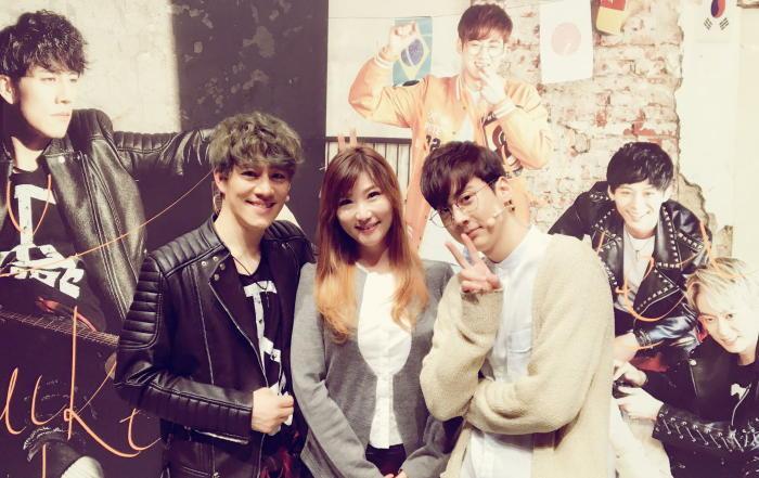 『マイ・バケットリスト』会場にて(左から)キム・ナムホ、Yumi、チョンジ(TEENTOP)
