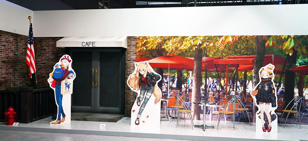 背景は写真とリアルを組み合わせて立体的な展示 撮影:斉藤直樹
