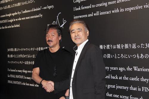 (左から)坂口博信、天野喜孝