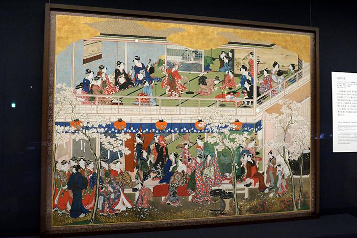 喜多川歌麿「吉原の花」江戸時代 寛政3~4年(1791-92)頃 186.7×256.9cm ワズワース・アセーニアム美術館蔵