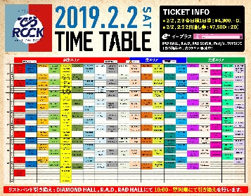 『でらロックフェスティバル 2019』タイムテーブルを発表