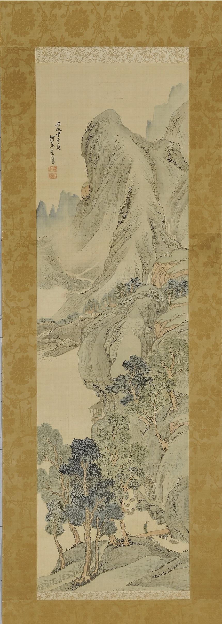 万葉洞 山水図 与謝蕪村