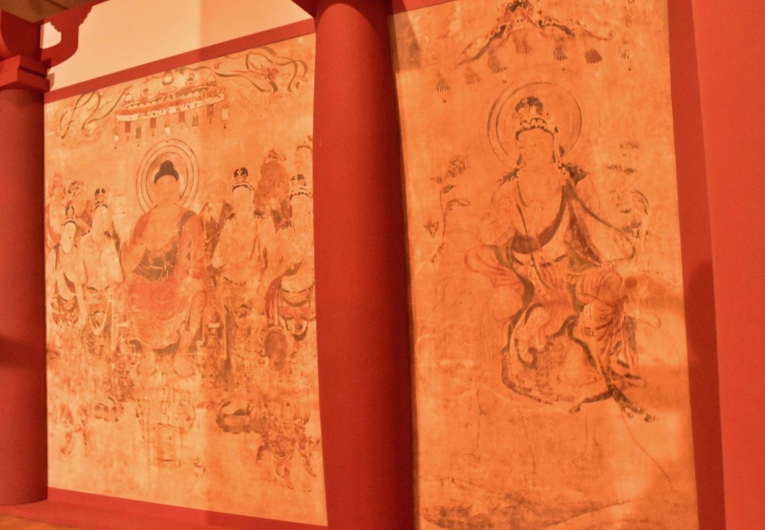 クローン文化財 法隆寺金堂壁画(部分) 7世紀末ー8世紀初