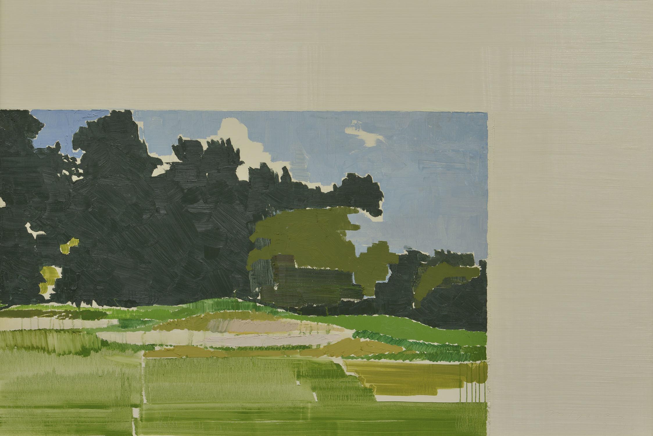 宮岡 俊夫(みやおか としお) 《Landscape》2016 年 油彩・キャンバス 132.7×196.2 ㎝ 1984 年生まれ