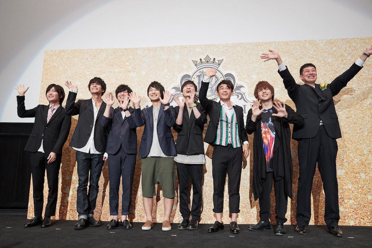 (左から)MC、永塚、斉藤、八代、寺島、畠中、五十嵐、内田、監督