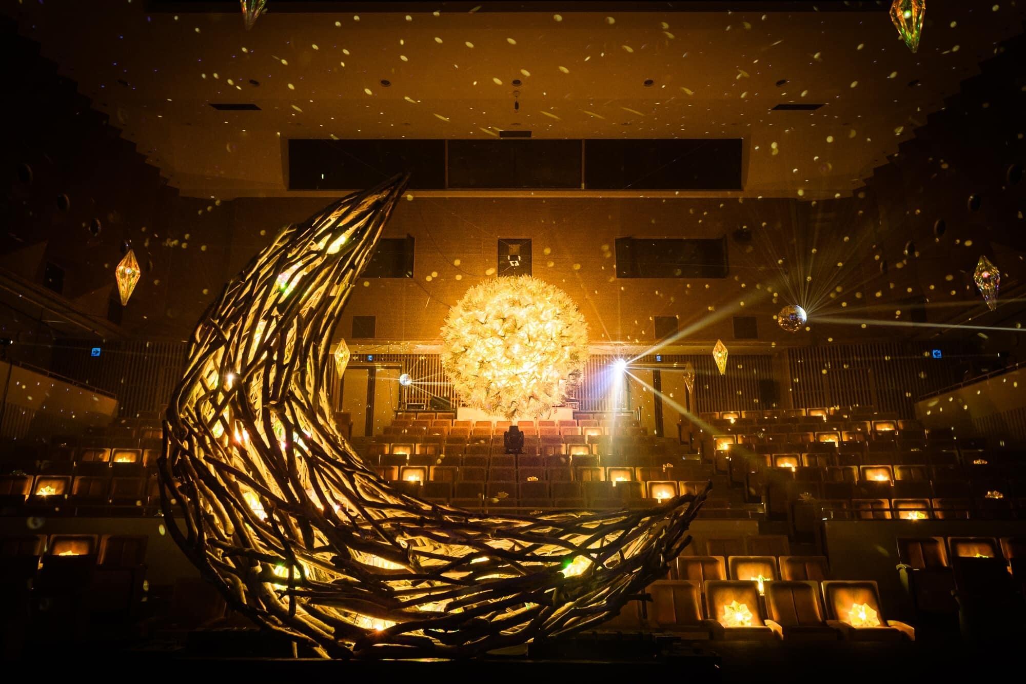光の展示会「MIRRORBOWLER ~TIDAMOON 太陽と月~」