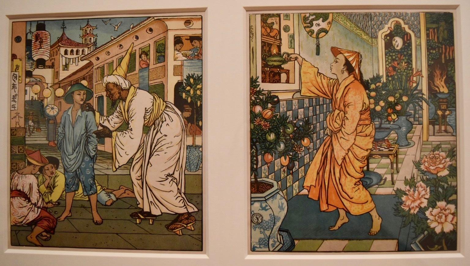 ウォルター・クレイン 《アラディンと魔法のランプ》1875年 個人蔵