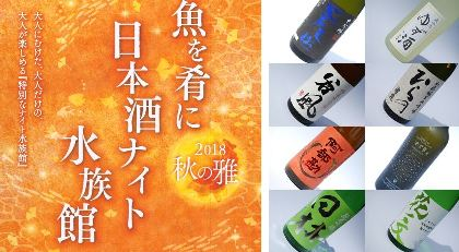 仙台うみの杜水族館で『魚を肴に日本酒ナイト水族館』