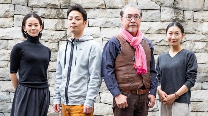 『斬られの仙太』出演者 (左から)陽月 華、伊達 暁、青山 勝、浅野令子  撮影:田中亜紀