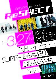 ストレイテナー、SUPER BEAVER、BIGMAMA出演イベント『ReSPECT』 にオープニングアクトDATSが決定