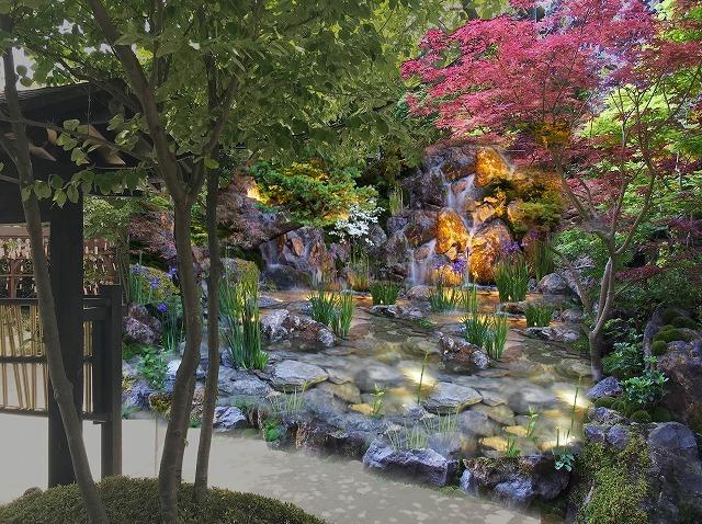 東京お台場 大江戸温泉物語『足湯庭園~おもてなしの庭~』