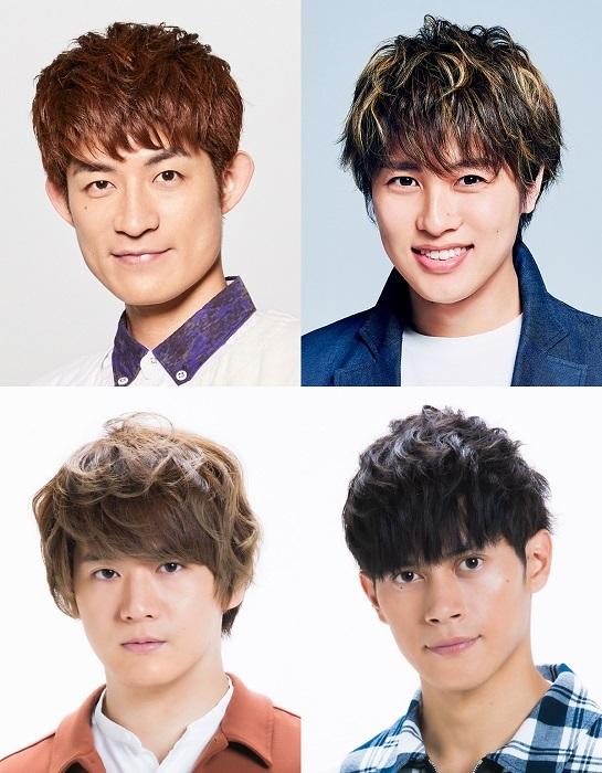 写真左上から松崎祐介、松本幸大、 冨岡健翔、福士申樹