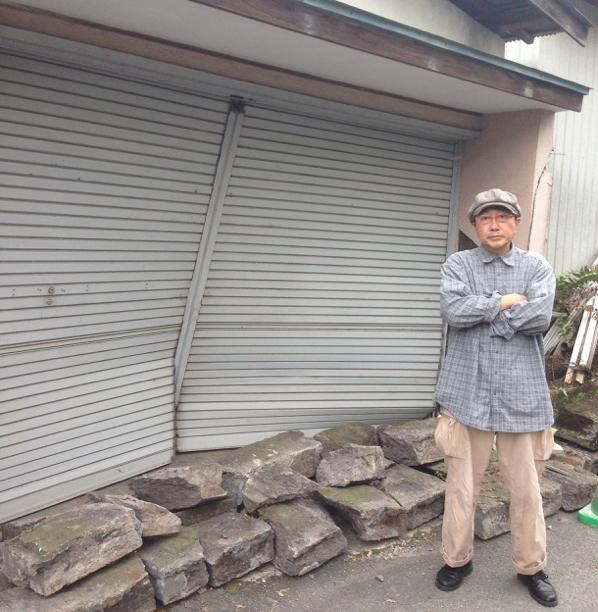 天野天街 熊本市内にて(撮影:小林夢二)